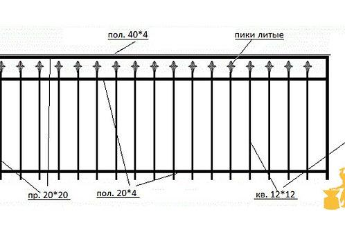 Балконы и ограждение №04