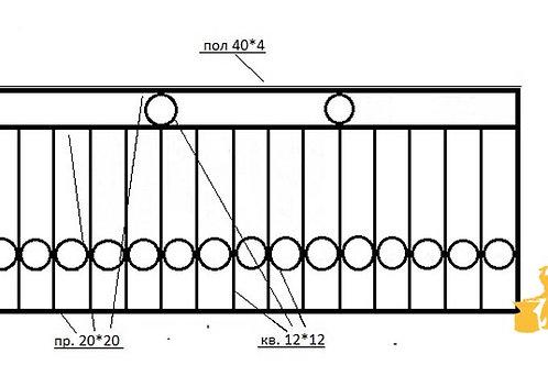 Балконы и ограждение №02