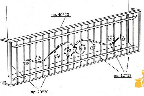 Балконы и ограждение №11