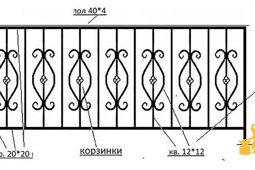 Балконы и ограждение №10