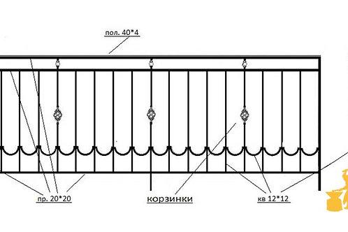 Балконы и ограждение №09