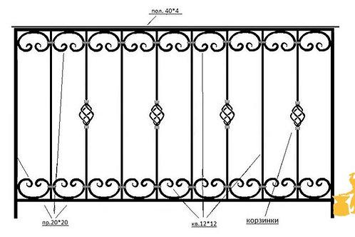 Балконы и ограждение №08