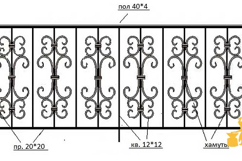 Балконы и ограждение №16