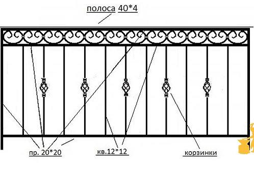 Балконы и ограждение №15