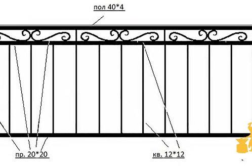 Балконы и ограждение №07