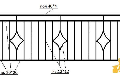 Балконы и ограждение №03
