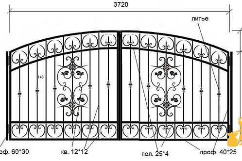 Ворота 022