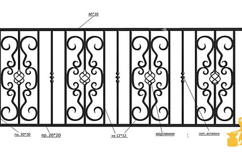 Балконы и ограждение №29
