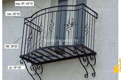 Балконы и ограждения (фото) №29