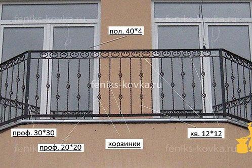 Балконы и ограждения (фото) №17