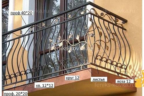 Балконы и ограждения (фото) №13