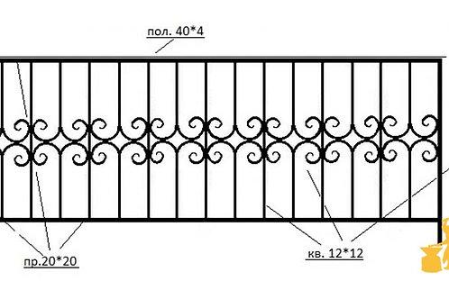 Балконы и ограждение №05