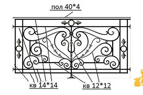 Балконы и ограждение №30