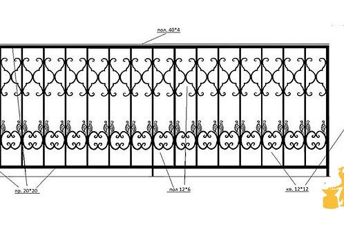 Балконы и ограждение №24