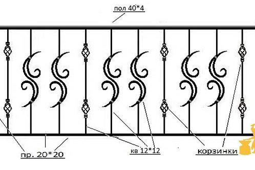 Балконы и ограждение №17