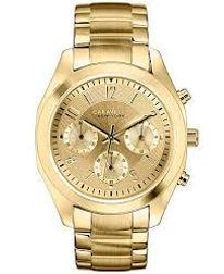 ladies watch, gold tone, caravelle, boyfriend watch,