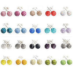 colored crystal earrings, crystal post earrings, birthstone crystal earrings,