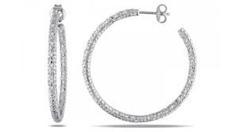 crystal hoop earrings, crystals, silver hoops, sterling silver crystal hoops, silver earrings,
