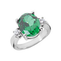 Emerald and diamond ring, emerald, diamond, ring, green stone, may, birthstone, colored stone jewelry, precious stone,