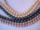 pearl strands, colored pearls, black pearls, pink pearls, cultured, freshwater, cultured freshwater, potato pearls,