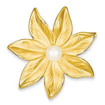 flower pin with pearl, pins, pearls,