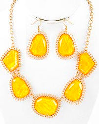 fashion jewelry, fashion necklace earring set, mutli colored, spring jewelry, summer jewelry, statement necklaces,