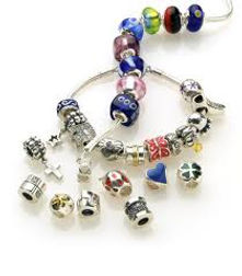 zable, beads, interchangeable beads, silver, Italian silver, Murano glass, crystal beads, enamel