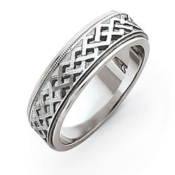 white gold carved wedding band, carved wedding bands, mens carved bands, ladies carved bands, unique wedding bands, carved,