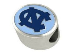 collegiate, UNC, bead, UNC bead, college, licensed