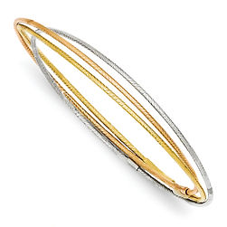 tri colored gold bangles, bangles, bangle bracelets,