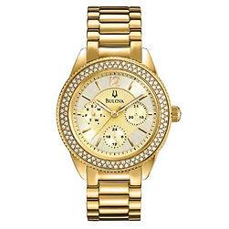 bulova watch, bulova, gold tone,