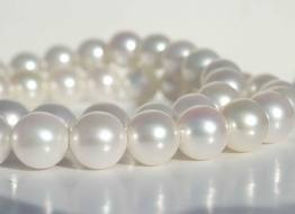 pearl strands, cultured, cultured freshwaterm freshwater, colored pearls, graduation gift, wedding gift, purity, innocence