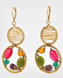 fashion jewelry, fashion earring set, mutli colored, spring jewelry, summer jewelry, statement earrings,