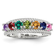 mothers ring, family jewelry, birthstone ring, mom, gold, silver, stones