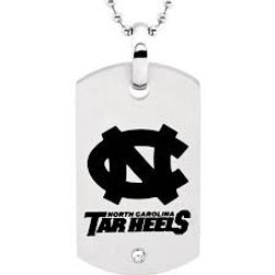 collegiate, UNC, Tarheels, mens, dog tags, licensed,