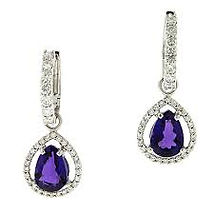 tanzanite and diamond earrings, tanzanite, diamond, earrings, purple stone, colored stone jewelry,