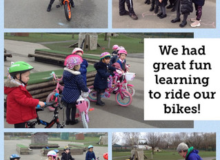 'Learn to ride' in reception!