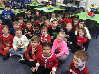 Christmas Jumper Day in Pine Class.