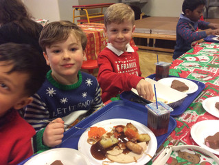 Christma Dinner with Pine Class! Yum!