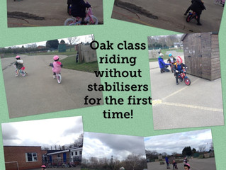 Oak class enjoyed learning to ride their bikes!