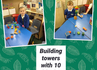 Reception have been busy learning number 10!