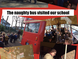 The 'Naughty Bus' visited our school