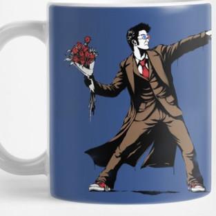 Tenth Doctor Banksy Style Mug