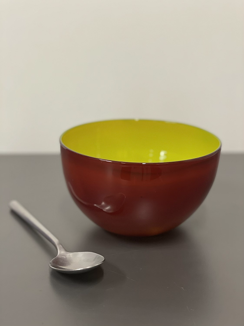 Ruby and yellow bowl