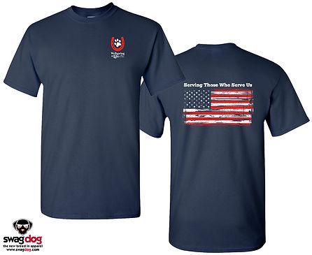 Navy American Flag tshirt