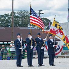 Presenting Colors Kenwood Air Force JROTC
