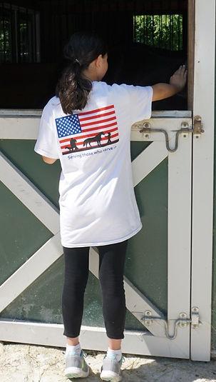 White American Flag tshirt