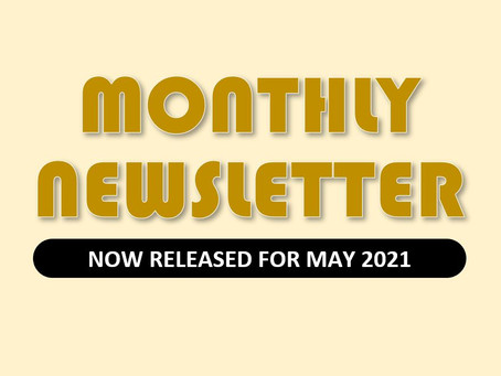 Monthly Newsletter for May 2021