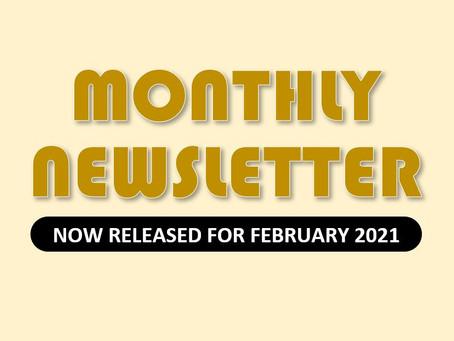 Monthly Newsletter for February 2021