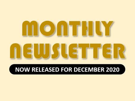 Monthly Newsletter for December 2020